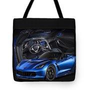 Blue Vette Tote Bag