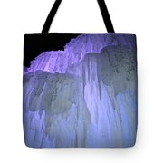Blue Violet Ice Mountain Tote Bag