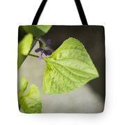 Blue Violet With Triangles Tote Bag by Rebecca Sherman