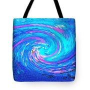 Blue Vortex Abstract 2 Intense Tote Bag