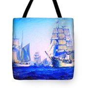 Blue Voyage To Serenity Tote Bag