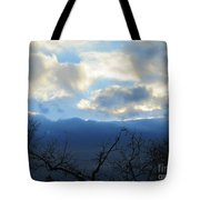 Blue Wall Clouds 4 Tote Bag