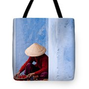 Blue Wall Hawker 02 Tote Bag