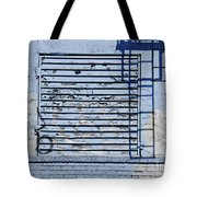 Blue Wall Tote Bag