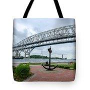 Blue Water Bridge Anchor Tote Bag