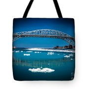 Blue Water Bridge Reflection Tote Bag