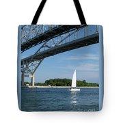 Blue Water Bridge Sail Tote Bag