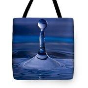 Blue Water Drop Tote Bag