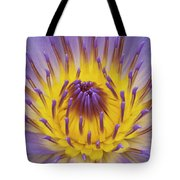 Blue Water Lily Tote Bag by Heiko Koehrer-Wagner