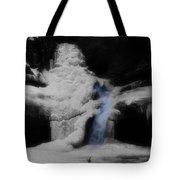 Blue Waterfall Frozen Landscape Tote Bag by Dan Sproul