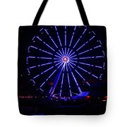 Blue Wheel Of Fortune Tote Bag