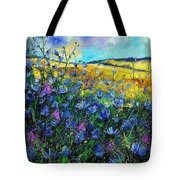Blue Wild Chicorees Tote Bag