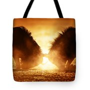 Blue Wildebeest Dual In Dust Tote Bag