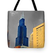 Blue Willis Tote Bag
