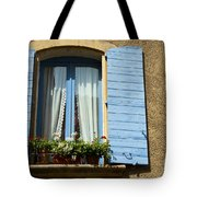 Blue Window And Shutters Tote Bag