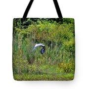 Blue Winged Heron 2013 Tote Bag