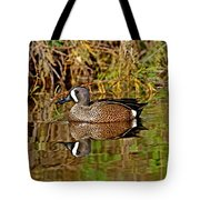 Blue-winged Teal Drake Tote Bag