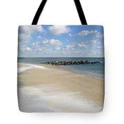 Blue Winter Sea And Sky Tote Bag