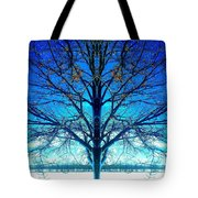 Blue Winter Tree Tote Bag