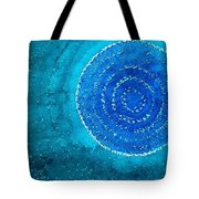 Blue World Original Painting Tote Bag