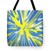 Blue Yellow White Swirl Tote Bag