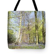 Bluebell Time In England Tote Bag