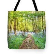 Bluebell Wood Watercolour Tote Bag