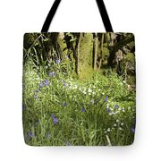 Bluebells And Greater Stitchwort Spring  Boot Eskdale Cumbria England Tote Bag