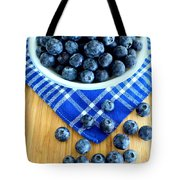 Blueberries And Blue Napkin Tote Bag