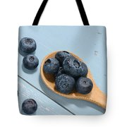 Blueberries On A Spoon Tote Bag