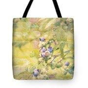 Blueberries Painted On The Wall Tote Bag by Alanna DPhoto