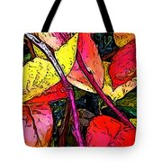 Blueberry Autumn Leaves Tote Bag