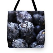 Blueberry Close Up Tote Bag by John Rizzuto