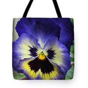 Blueberry Pansy Tote Bag