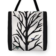 Bluebird In A Pear Tree Tote Bag