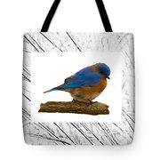 Bluebird In Prairie Frame Tote Bag