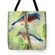 Bluebird Pair Tote Bag