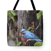 Bluebird - Red Berries Tote Bag