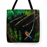 Bluebird Shimmer Tote Bag