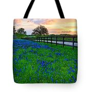 Bluebonnet Fields Forever Brenham Texas Tote Bag