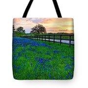 Bluebonnet Fields Forever Brenham Texas Tote Bag