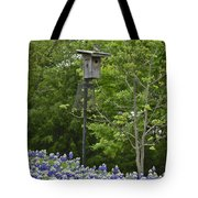 Bluebonnets And Bluebird Tote Bag