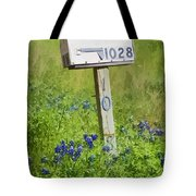 Bluebonnets And Mailbox Tote Bag