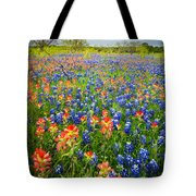 Bluebonnets And Prarie Fire Tote Bag