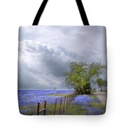 Bluebonnets And Spring Rain Tote Bag