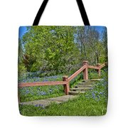 Bluebonnets And Stairs Tote Bag