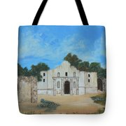 Bluebonnets At The Alamo Tote Bag
