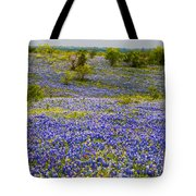 Bluebonnets Over Hill And Dale Tote Bag