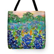 Bluebonnets Sunrise Tote Bag