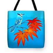 Bluejay In The Fall 2 Tote Bag